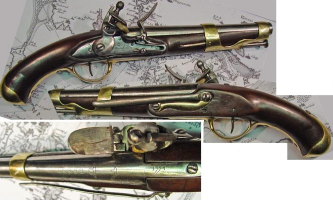 French flintlock Marine Pistol model of 1763/66