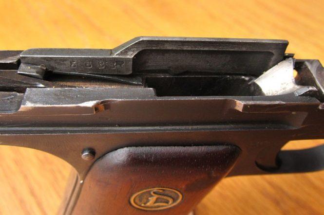 Ortgies pistol the sear