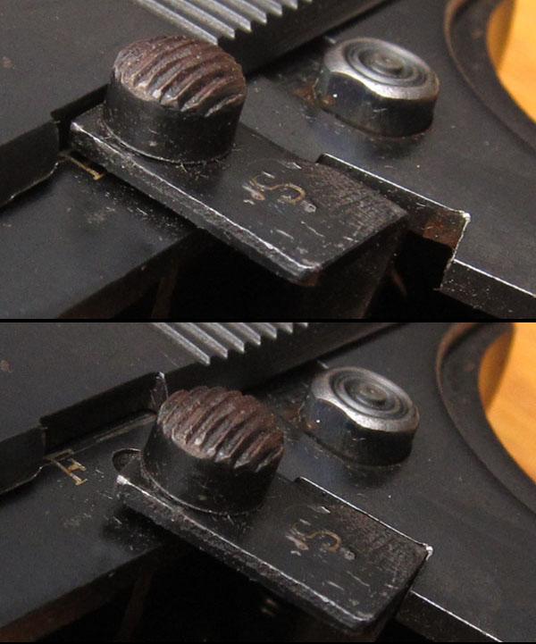 Ortgies pistol button safety