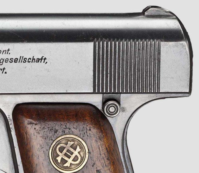 Ortgies pistol grip safety