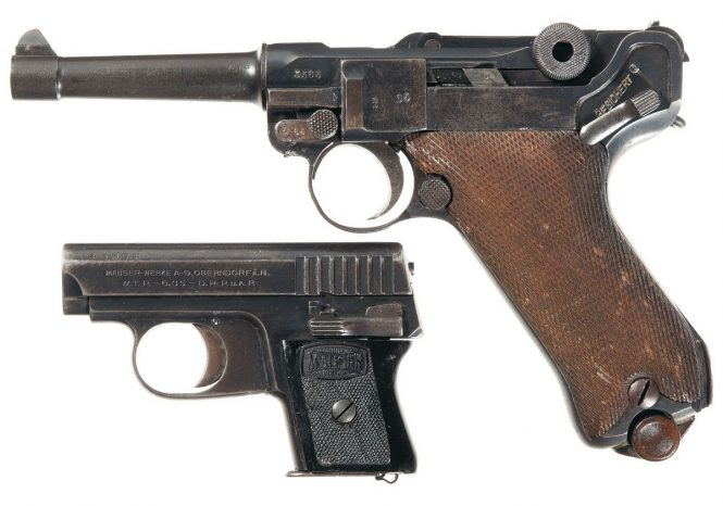 Mauser WTP I and P-08 Luger