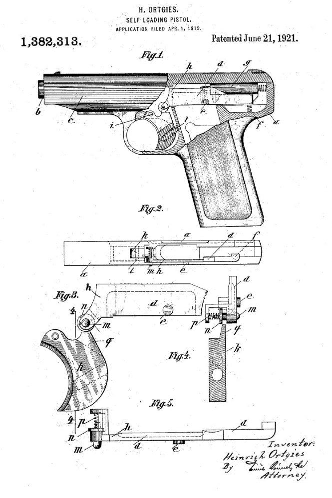 Ortgies pistol Patent