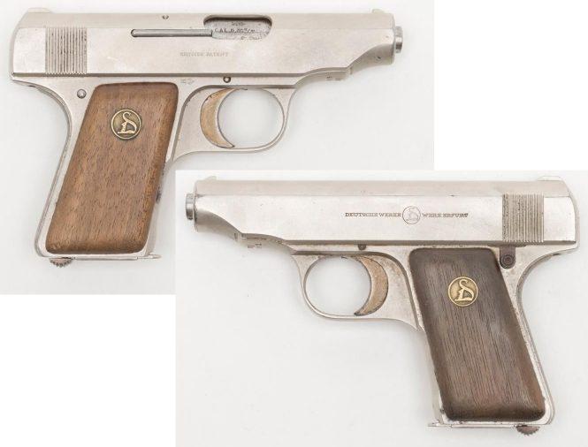 Ortgies pistol with original nickel finish