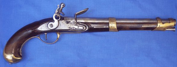 French flintlock pistol model of 1763/66 1 type