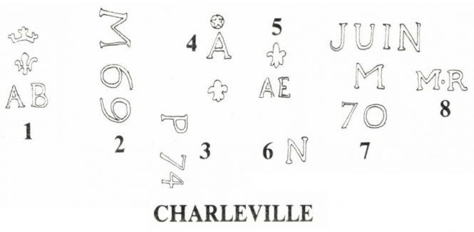 Marking of pistols M 1763/66 Manufacture de Charleville