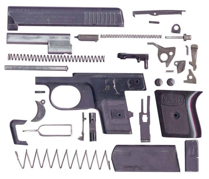 Mauser Vest Pocket Pistol WTP I Complete disassembly