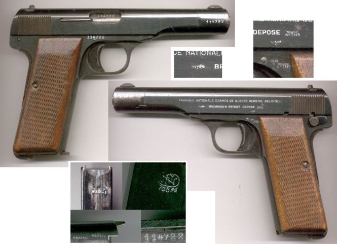 FN Browning Modell 1922 Pistol nazi production 2nd Variation, WaA140
