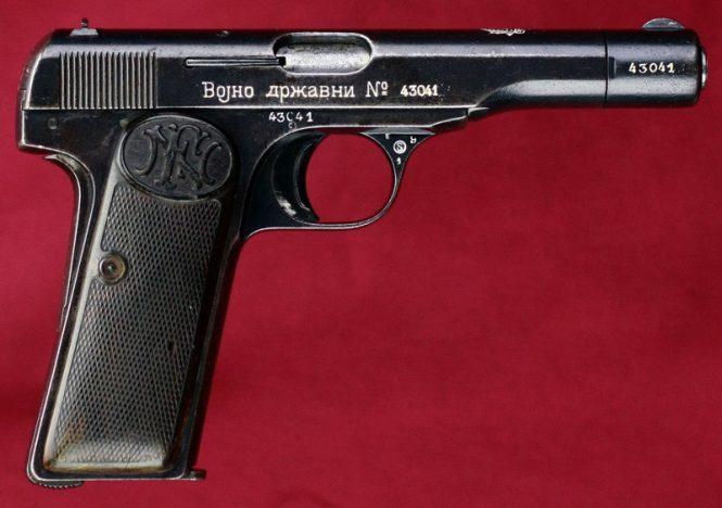 FN Browning Model 1922 pistol Yugoslavian order