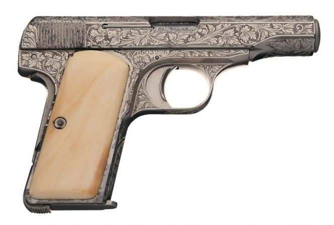 FN Browning Modell 1910 Pistol engraved with Ivory Grips