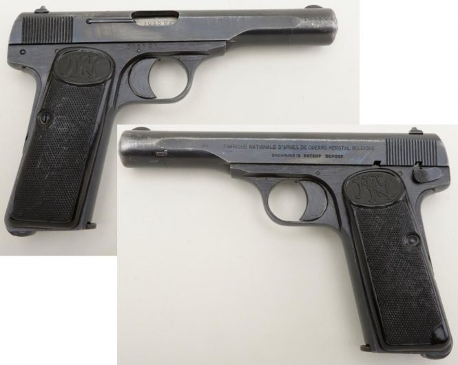 FN Browning Modell 1922 Pistol nazi production Commercial Variation