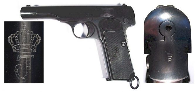 FN Browning Model 1922 pistol Dutch order