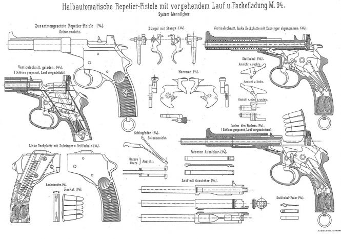 Mannlicher M1894 drawing