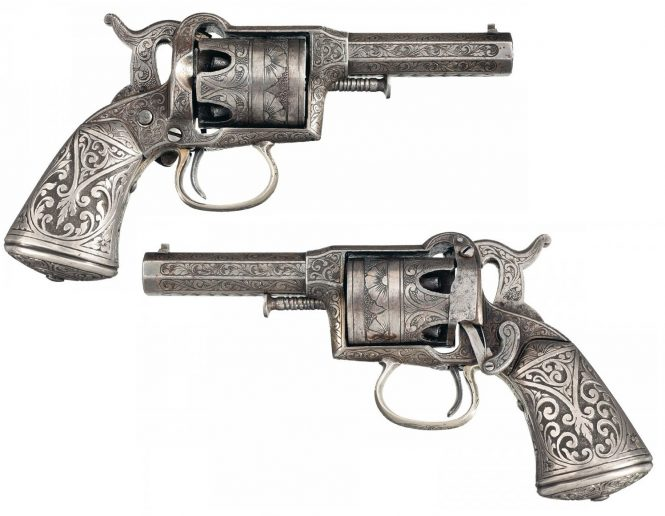 Remington-Beals First Model Pocket Revolver Engraved and Silver Finished