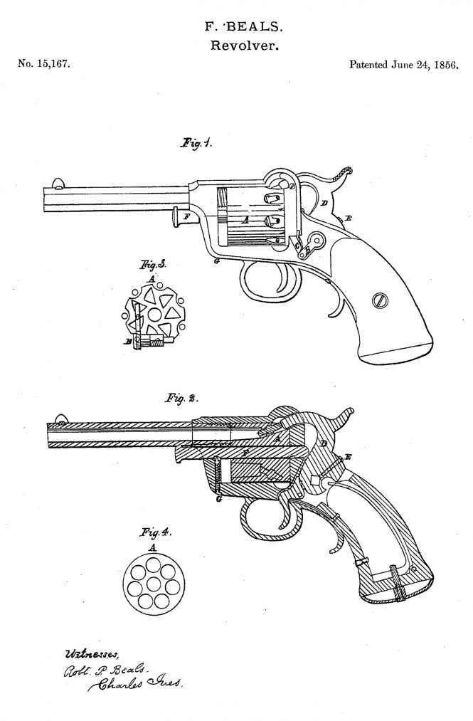 Fordyce Beals Patent 1856