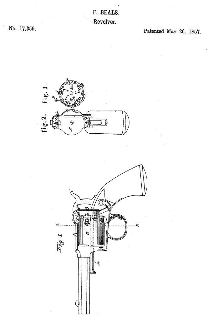 Fordyce Beals Patent 1857