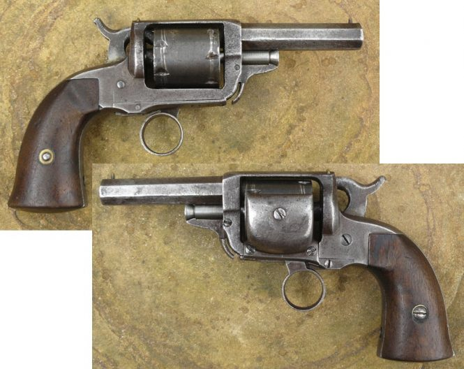 Whitney-Beals patent pocket revolver modified to accept cartridges