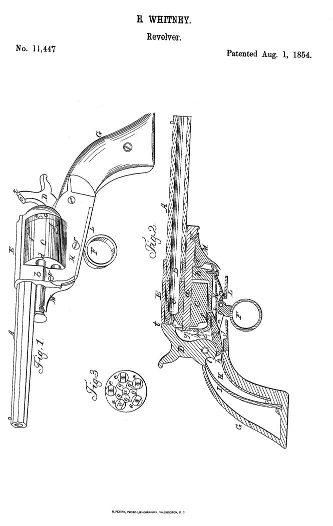 Whitney Patent №11,447 of August 1, 1854