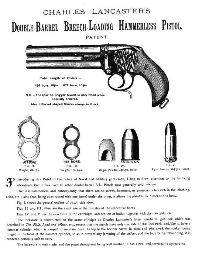 Двуствольный пистолет Ланкастера