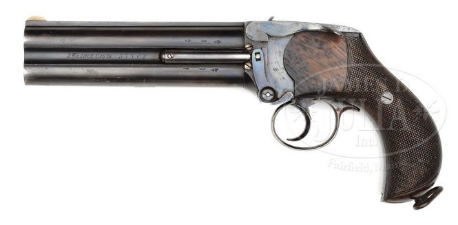 Charles Lancaster Two Barreled Pistol