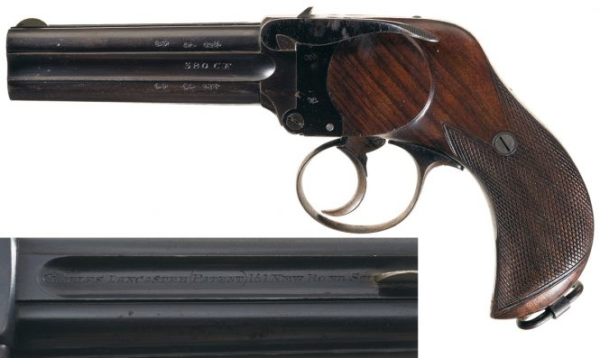 Charles Lancaster Four Barreled Pistol in 380 CF