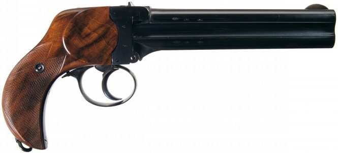 Charles Lancaster Four Barreled Pistol large frame in 476 CF