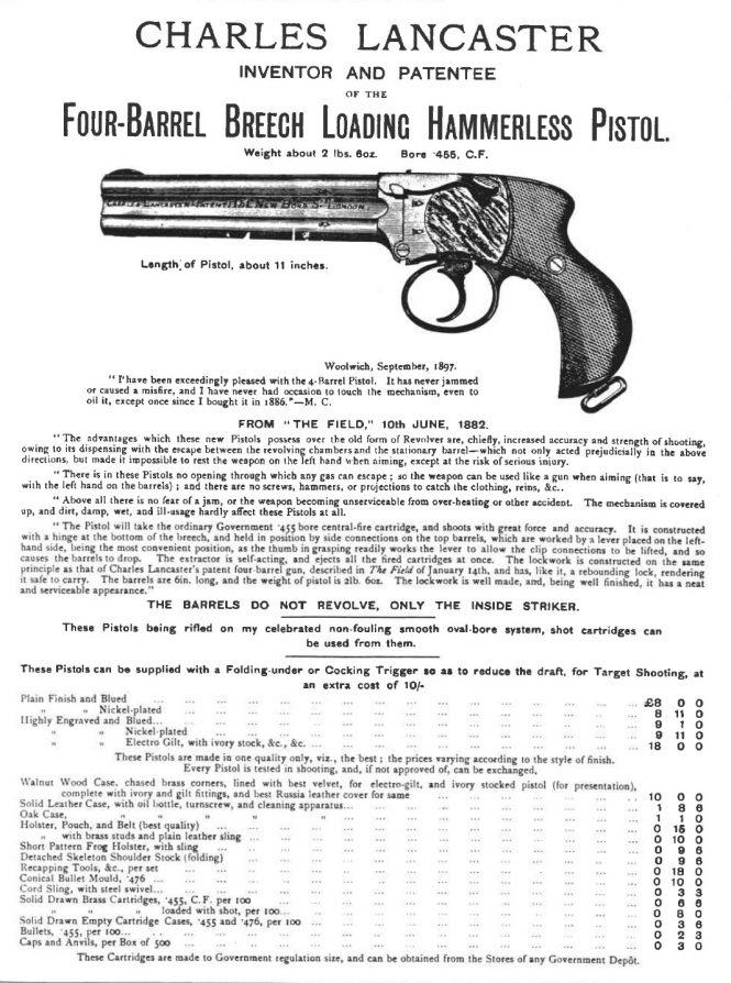 Charles Lancaster Pistol