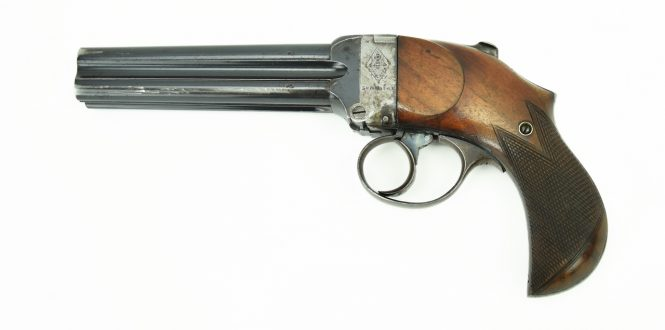 Thomas Bland Mitrailleuse Four Barrel Pistol