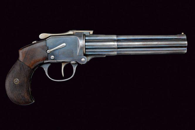 Thomas Bland Mitrailleuse 6 Barrel Pistol