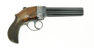 Thomas Bland Mitrailleuse Four Barrel Pistol