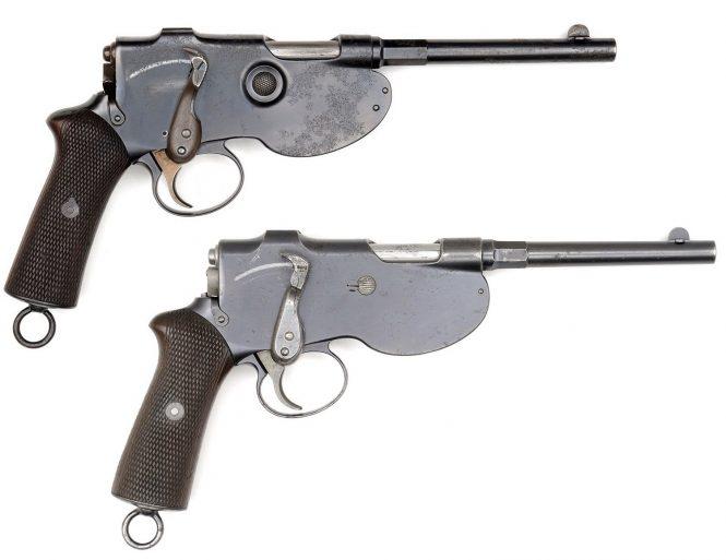 Пистолет Шёнбергера-Лаумана образца 1894 года (кликните по изображению, чтобы увидеть фото полного размера)