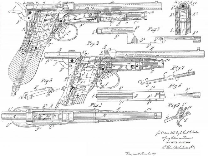Patent Salvator Dormus Model 1891-II
