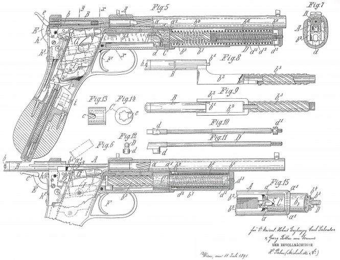 Patent Salvator Dormus Model 1891-I