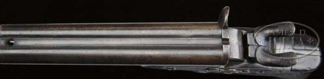 Двуствольный пистолет Наган М1877 бельгийской жандармерии