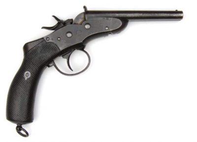Remington Patent Nagant Model 1877 Gendarmerie Rolling Block Double Barrel Pistol
