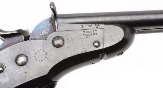 Nagant Rolling Block pistol