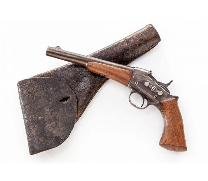 Remington Rolling Block Pistol, original holster