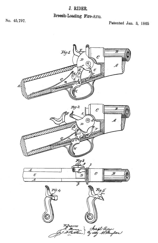 Joseph Rider Patent №45797 Jan 3 1865