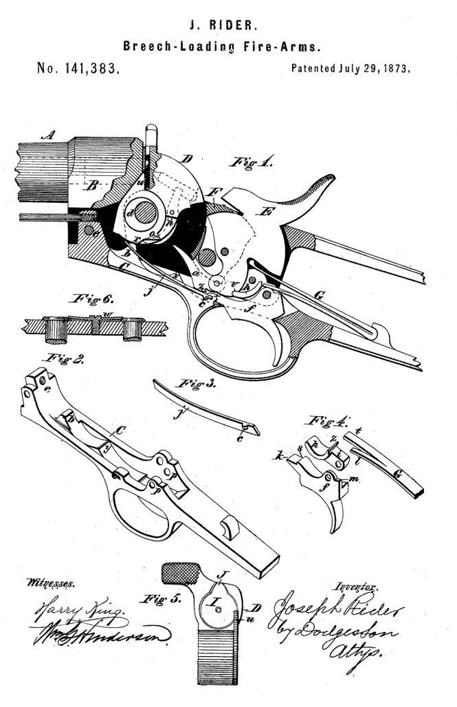 Joseph Rider Patent №141383 July 29 1873