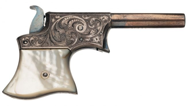 Remington Vest Pocket Pistol with engraving frame and pearl grips