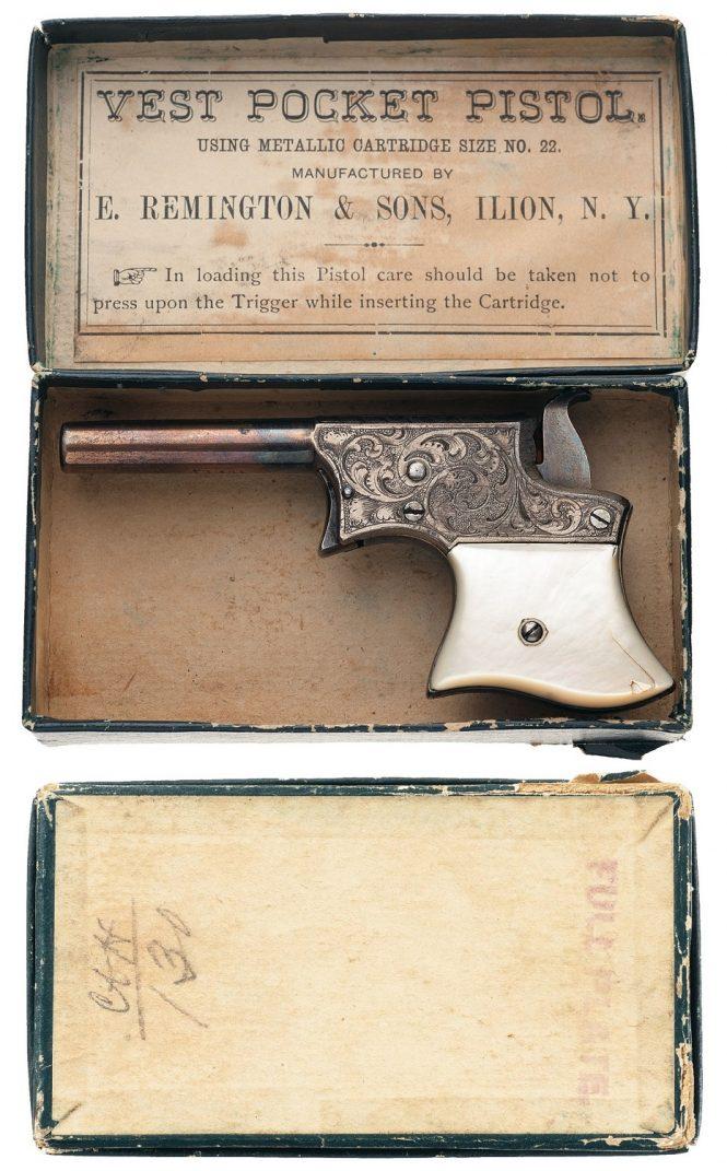 Remington Vest Pocket Pistol with original two-piece black box