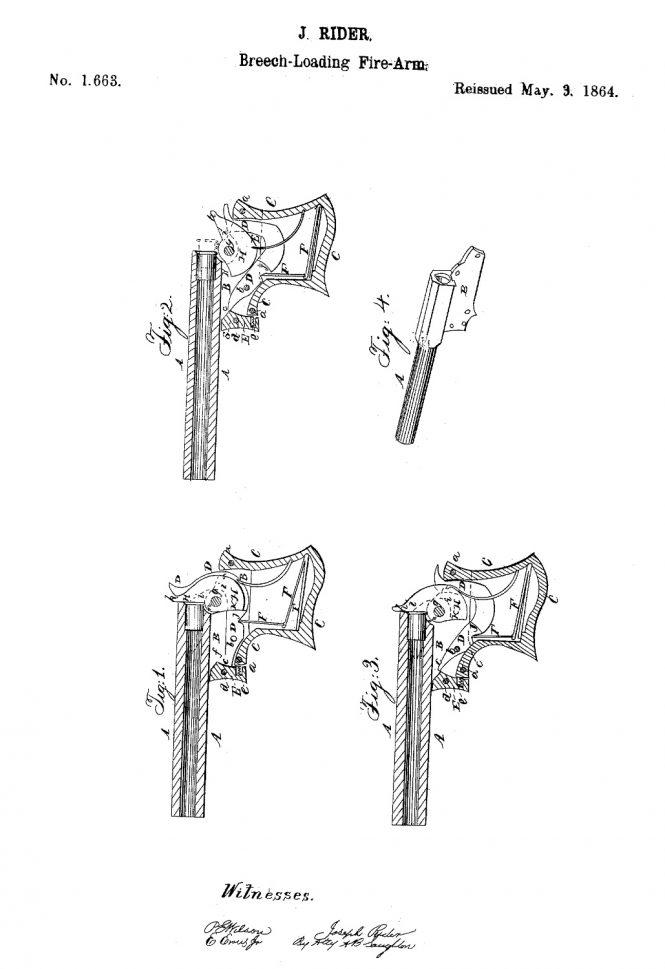 Joseph Rider Patent May 3 1864