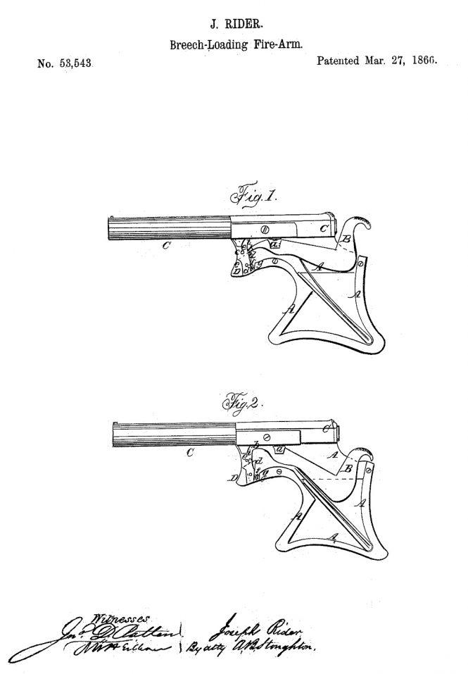Joseph Rider Patent Mar 27 1866