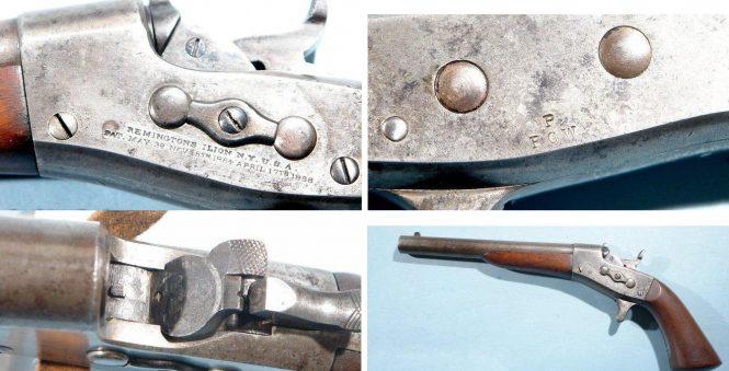 Remington 1865 Navy Rolling Block Pistol