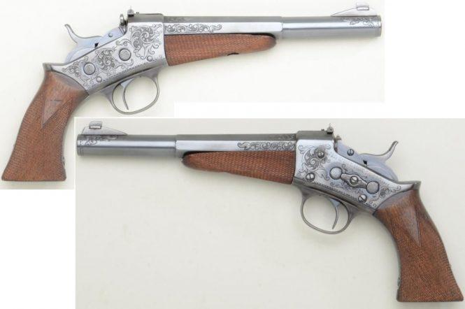 Remington Rolling Block Pistol engraving