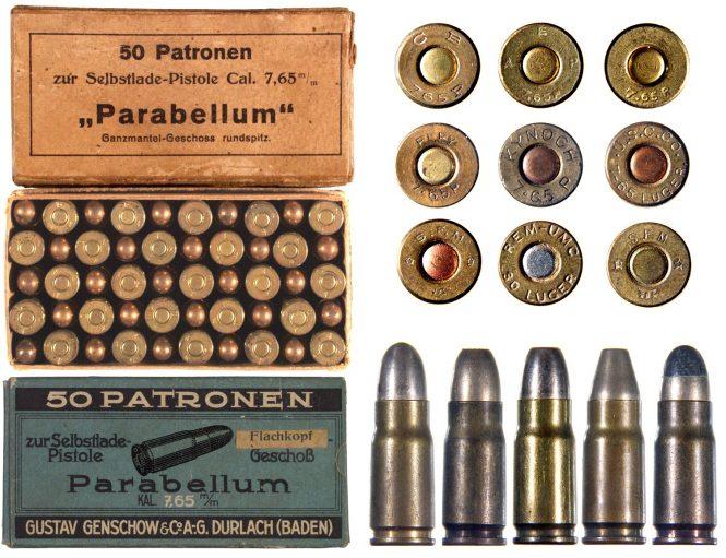 7.65 mm parabellum cartridge