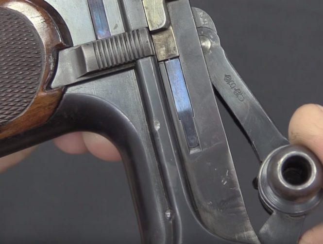 Borchardt C93 Pistol marking