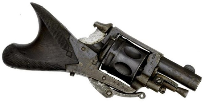 "Fraipont Emile revolver ""Clic Clac"" or ""fish tail"""