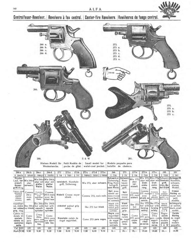 """catalog ALPHA of 1911presente revolver """"Clic Clac"""""""
