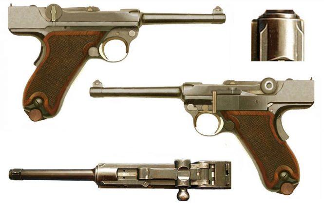 1st model Prototype Borchardt Luger pistol