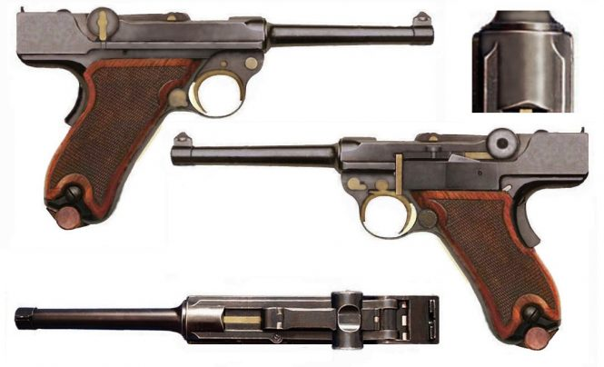 1st model Borchardt-Luger 1898 Transitional Pattern pistol